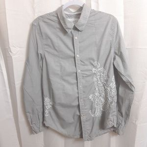 Guess Long Sleeve Embroidered Shirt